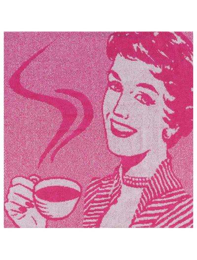 Paño cocina Miss Coffee rizo