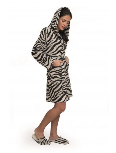 Albornoz Corto Capucha Zebra
