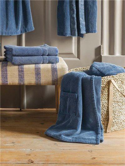 Toalla de baño Zeta Sauna Azul